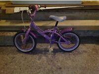 Little girls first bike