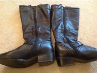 Boots and handbag