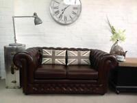 Brown Thomas Lloyd 2 seater Chesterfield sofa. Can deliver