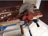 Vintage Hand Crank Grinding Wheel
