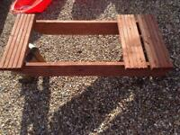 Solid Wooden sledge as new