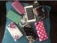 Sony Xperia L (white) plus accessories