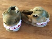 Small Boys Dinosaur Slippers Size 9/10