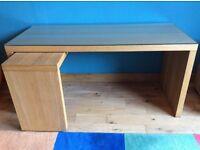 Light coloured wooden desk