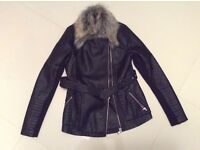 River island ladies jacket faux leather