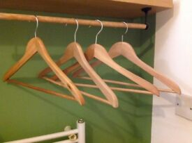 wooden hangers 50p each 15 available