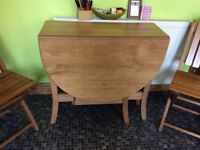 Small / Compact / Occasional Drop Leaf Dining Table Oak Laminate