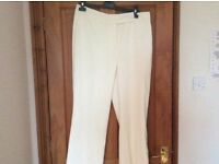 Cream tailored trousers