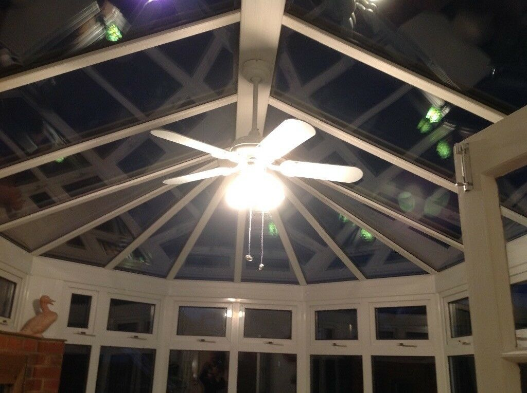 Conservatory Light Ing With Fan In White Finish Stony Stratford Buckinghamshire Gumtree