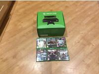 Xbox One console 500gb Black plus 6 Games and Kinect Sensor (boxed)