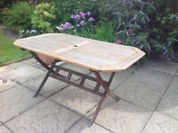 Fold-up Garden Table,slatted top,59 x 34 lnches