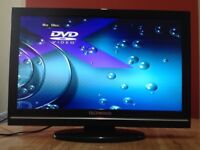 Techwood 22 Inch HD LCD TV Built in DVD player, Freeview excellent condition