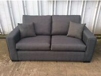 Maya Charcoal 3 Seat Fabric Sofa - Ex Display - £199 Inc Free Local Delivery