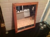 Mirror with pine frame