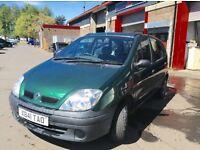 2001 Renault Megane scenic 1.4 MPV mot until Dec cheap family runabout