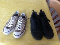 Ladies Converse and Nike trainers