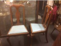 Job lot of vintage dining chairs oak