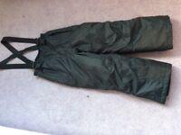 Children's salopettes / ski trousers waterproof padded age 5-6