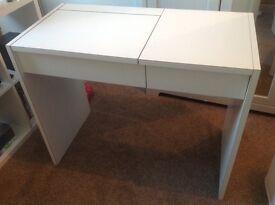 White Wooden Desk / Dressing Table