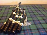 Set of D.Booth Bagpipes for sale - imitation and nickle mounts