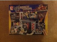 WWE Stackdown Train and Rumble Playset (Lego brick style)