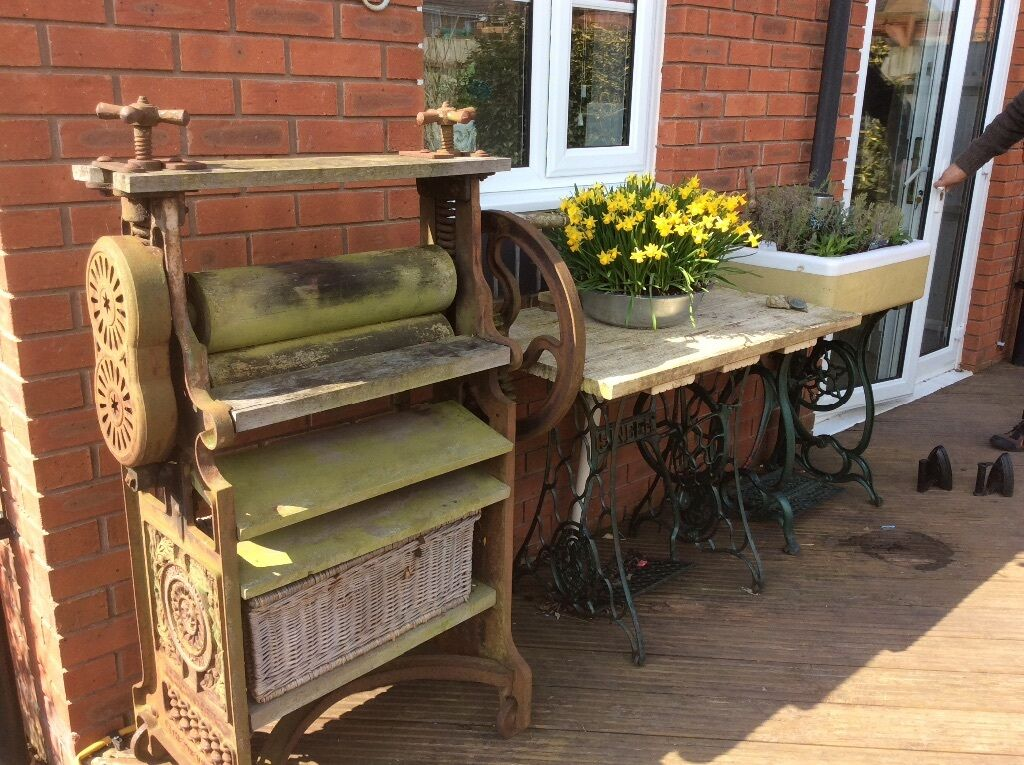 beautiful old mangle garden feature