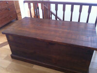Large Wooden Blanket Box/Trunk