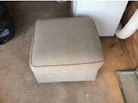 Fabric footstool