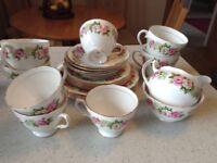 22 piece china tea set