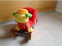 Ride-on or rocking soft snail toy