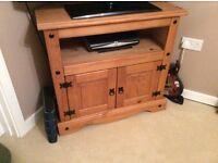 Pine, corner TV cabinet