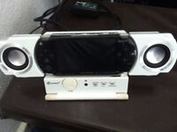 Black PSP, Superb Condition, with surround sound and 2 games, £60