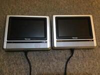 Twin screen in car DVD system