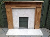 Fireplace surround and marble hearth in good condition no cracks,chips or splits