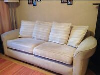 2 x three seater sofas in excellent condition