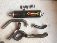 Partial Akropovic exhaust for Honda VTR 1000 SP1.