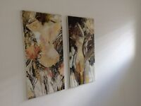 Pair of nude oil paintings on canvas by Australian artist