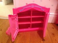 Build a bear cupboard and chest of drawers with selection of clothes and shoes