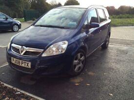 Vauxhall Zafira 1,6 Petrol, Long Mot 7 Seater MPv