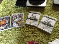 Bundle lot £20 guitar 2 decks 3 games and one spear