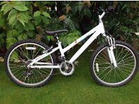 Girls Claude Butler Mountain Bike, White, 24 Inch Frame, Suit 10-12 Year Old, 21 Speed, VGC.