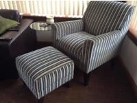 Chair & Footstool