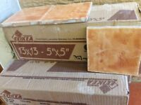 Terracotta 5x5 tiles 5 boxes