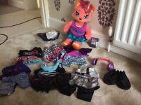 Build a bear Honey Girls Misha teddy and accessories