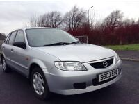 Low mileage 2003 Mazda 323 mot until Nov cheap reliable family runabout
