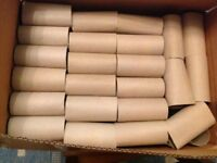 Cardboard Rolls 100pack - Brilliant matt base to paint, stick onto or use in crafts or gardening.