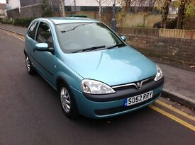 2002/52 Vauxhall corsa 1.2 club with service history
