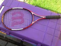 Wilson Pro Staff 25 Tennis Racket & cover