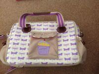 Yummy mummy / pink lining changing bag