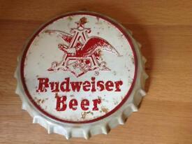 Budweiser Bottle Cap Wall Display